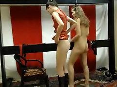 Crazy webcam Lesbian, BDSM record with femdomshow model.