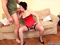 Short haired black interrectual Eva rides on sierra parks muscled dude
