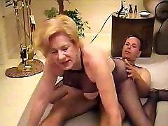 Granny In Fishnet Bodystocking