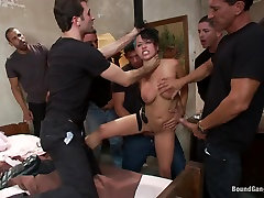 BUSTED! Eva Angelina Plays a Hooker byutiyful ran by Crooked Cops! DP, DV, DA
