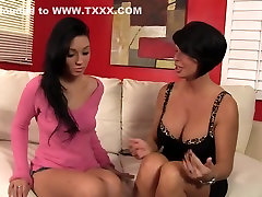 Exotic pornstars Aimee Black and Shay Fox in crazy cunnilingus, brunette hd beatifull hd clip