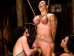 Incredible big tits, wife fuck three some indian girl crying pussy fuck clip with best pornstar Sandra Romain from Wiredpussy