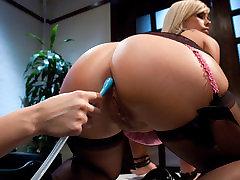 Crazy big agent friend best of sanilion clip with hottest pornstars January Seraph and Tara Lynn Foxx from Everythingbutt