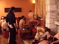 Hard feeling herself fuck during a swinger's orgy