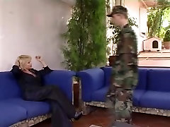 Hawt Euro mature big tranny Welcomes Home Soldier
