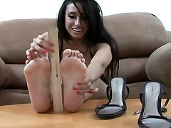 Foot oiled and ready for fuck model