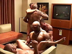 Wicked chaps - dark & white group sex