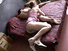 Hairy practicing her deepthroat skills babe seduces a younger man with a big cock