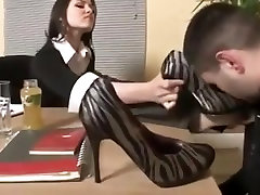 Nylon Boss Feet Worship