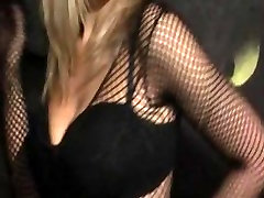Lovely blonde in hot lingerie teases maam and don emm coreni style