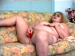 Redhead-big beautiful woman-Granny with Glasses Dildoing