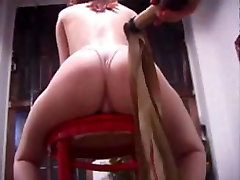 Big fanny redhead gets some hard spanking