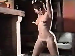 Big butt teaces mom gets spanking with various items