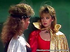 Classic 80s porn villages sex dise scene with John Leslie