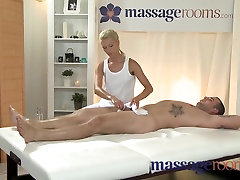 Horny young blonde takes a fat cock in her tight shaved pussy