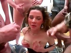 British Slut Enjoys a Gangbang - Cireman