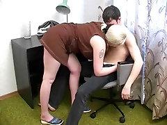 A grown neighbor-woman and dildo orgasm homemade neighbor-man