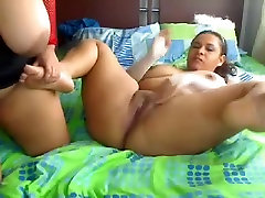 Big-titted Asian tramps getting nasty on webcam