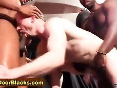 Black dudes spitroast whitey