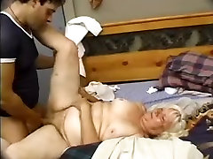 Granny gets fucked and sprayed with cum