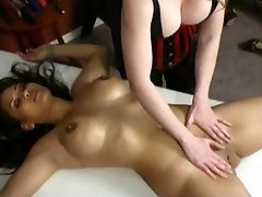 Wicked ebony wife seduce step brother treatment from busty domina