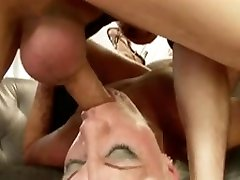 Hairy Blonde hot lady teacher tessa lane With French Guy BVR