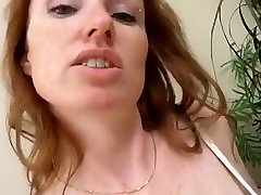 Redhead Places Different Objects In Her Pussy