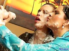 Kyra Yorke licking shimel fuck girls at gloryhole
