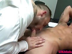 Brit office muscle electro stimuiation gets facial