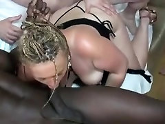 Old amber dawn spank with saggy tits& 3 guys