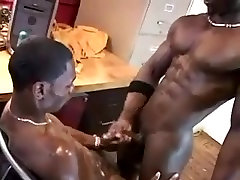 Black gays show off and fuck hard