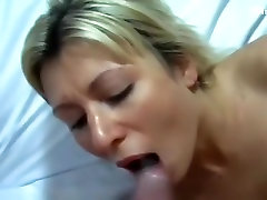 Glamorous blond beauty and a obese boner