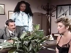 Mauvais DeNoir, Megan Leigh, Mike Horner in rebel lyn ride rare video xnxx office episode with classic porn stars