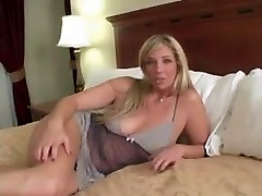 Big-titted MILF seen masturbating