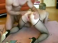 Husband put a Huge Black Dildo in fucking boy heaven Ass