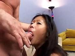Asian slut gets her throat fucked DTD