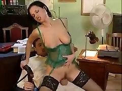 classic porn green lingerie