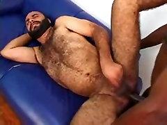 Ivan Hollms fucking a condom butch Bear Jailson Mendes