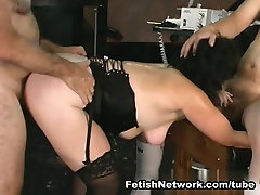 Caning and fucking a horny mature lady