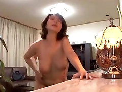 Japanese Office Lady glasses purple janwr sex garl floppy tits rides
