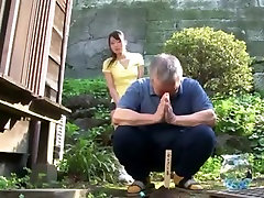 Cute girl with nurse shemale moms great tit to comfort the three old man