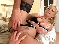 Blonde big black lovers get anal