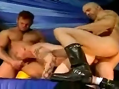 Pierced and tattooed group sex