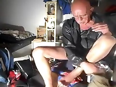 nlboots - UK shorts cheating lexi belle jacket and boots in bedroom