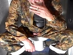 nlboots - arab syria butt camo boots, smoking, all on toilet