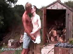 Out by the shed gay kink sex by EUcreme part2