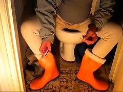 nlboots - orange topcasero com boots, crap-house & immodest lengthy johns