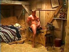 Muscular big huge clits Strokes His Fat Prick