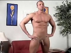 Amazing male pornstar in fabulous masturbation, solo male gay sex movie