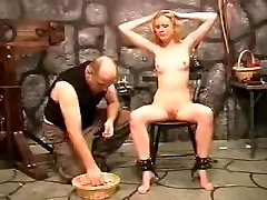 Thrall angel punished by dom Sado Slaves